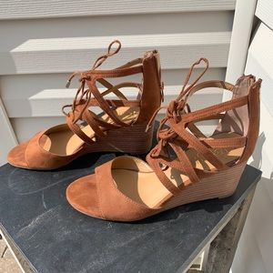 Shoes - Franco sarto lace up wedges